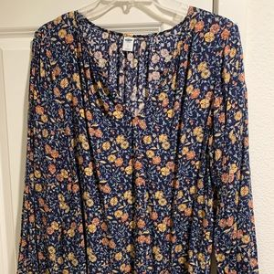 Old Navy fall floral top
